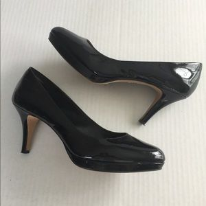 Vince Camuto🌷Blk Leather Heels 3 inch Sz 10